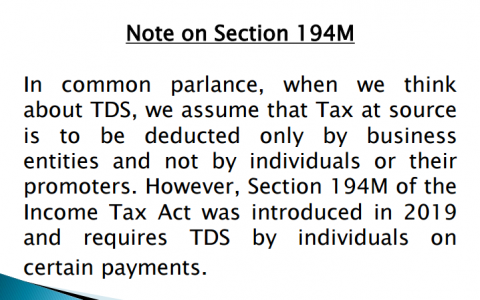 Note on Section 194M