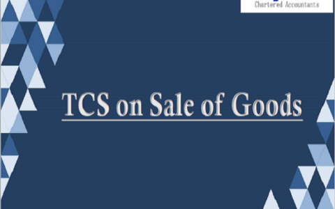 TCS on Sale of Goods